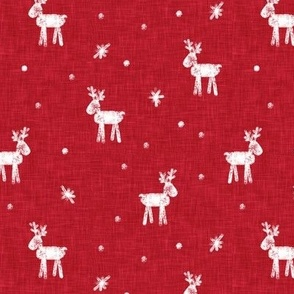 Reindeer - Winter - Christmas Holiday - red - LAD20