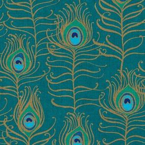 Peacock Feather Nouveau {Teal}