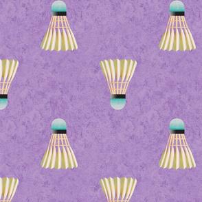 Badminton Shuttlecocks Purple