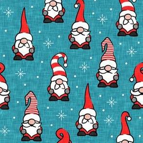 Christmas Gnomes - teal - LAD20
