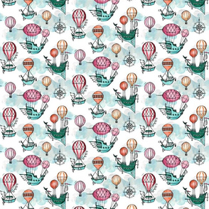 Steampunk airships toile small