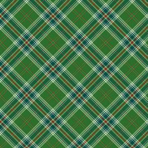 All Ireland Tartan Green Bias Variation