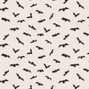 mini micro // Small // Halloween Black bats on off white
