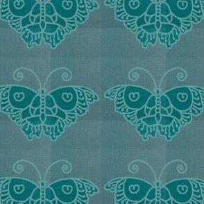 Plaid Lagoon Butterfly Fabric --greygreenturqpaper-lines--blgrnbutterflycolorSOFTLT--lagoon-linen-2020-7july19