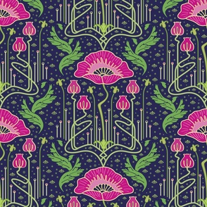 art nouveau poppy variation 2