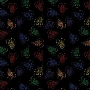 Trilobite shadows, rainbow