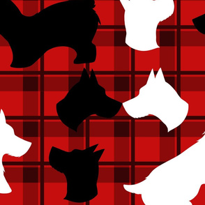 Plain Scottie dog fabric