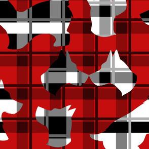 Plaid Scottie dog fabric