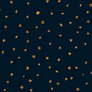 holiday gold dots coordinate - indigo