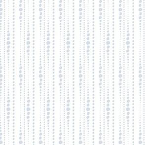 Bestrewn - Abstract Geometric Dot Stripe White Powder Blue