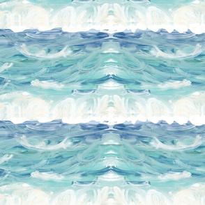 ocean waves shimmer - XL 19