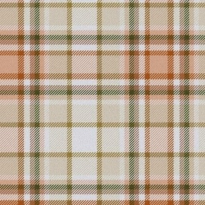 Beige and Sandy Brown White Center Plaid