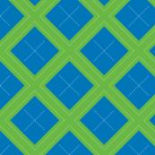 Blue-green Argyle