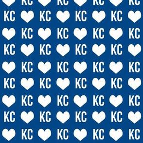 kansas city love - baseball blue
