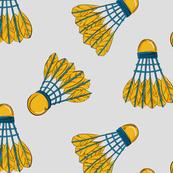 Shuttlecock bird yellow