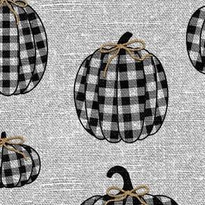 Black Buffalo Plaid Pumpkins