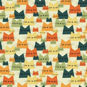 small scale nala cat vintage - cats fabric