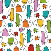 tinkle cat colorful - cats fabric