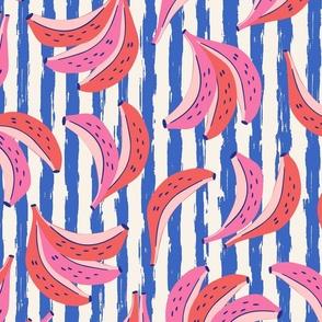 banana/blue stripes/large