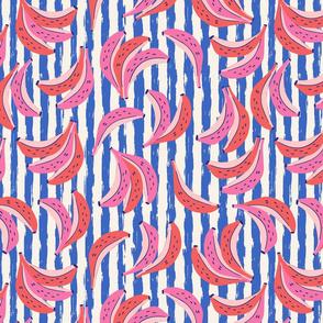 banana/blue stripes/medium