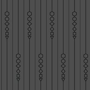 Pinstripe Dice Set - Grey