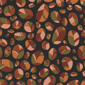 Colorful segmented ovals
