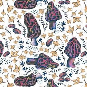 Mushrooms-Morel-Rainbow Pattern