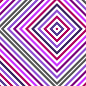 Lilac Grey Colorful Rhomb - Whimsical Psychedelic Retro Geometric Pattern