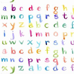 Twisted Rainbow Alphabet
