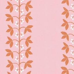 Berry Vine Stripe Pink and Orange