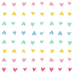 Rainbow Scribbled Hearts
