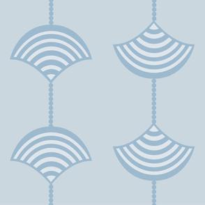Dot and Stripe Fan Pattern