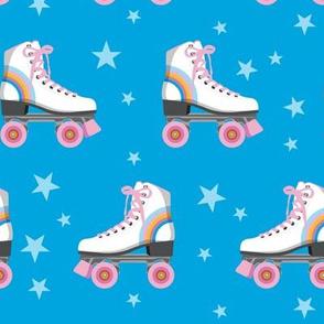 Roller Rink* (Rainbows on Sky) || skates roller-skate rollerskate skating stars 70s 80s disco