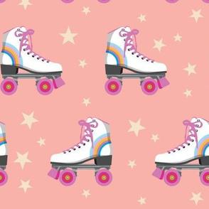 Roller Rink* (Rainbows on Mona) || skates roller-skate rollerskate skating stars 70s 80s disco coral
