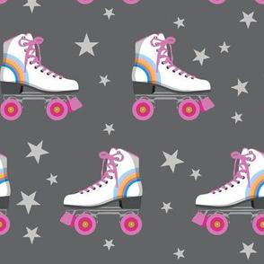 Roller Rink* (Rainbows on Pepper Pot) || skates roller-skate rollerskate skating stars 70s 80s disco