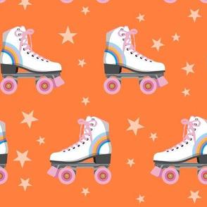 Roller Rink* (Rainbows on Valencia) || skates roller-skate rollerskate skating stars 70s 80s disco orange