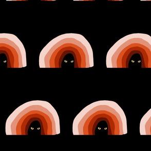 Orange Rainbow with Cat Eyes Larger