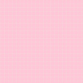 Pink and white plaid