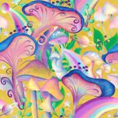 Mushroom Galaxy Yellow  jumbo scale