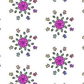 Flower and Butterflies