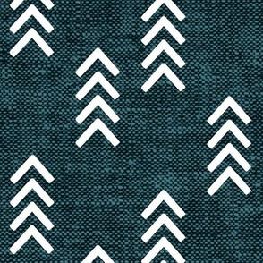 arrow stripes - dark teal - LAD20