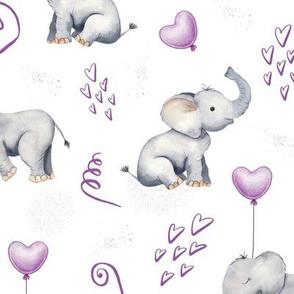 purple balloon elephant