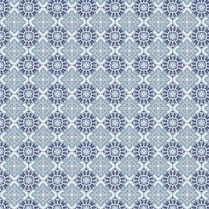 Geometric foulard blue