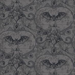 Gothic Lace-Bats-grey