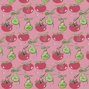 Hand Drawn Fruits - Winter Collection 2020 - Pink