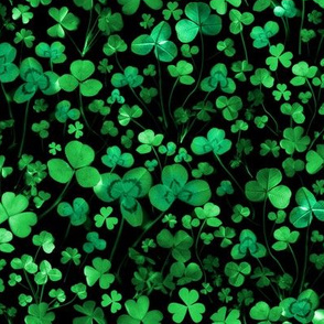 Evening Green Shamrocks and Clovers