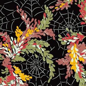 Garden Cobwebs in Autumn