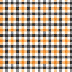 (small scale) halloween plaid - orange & black - LAD20BS