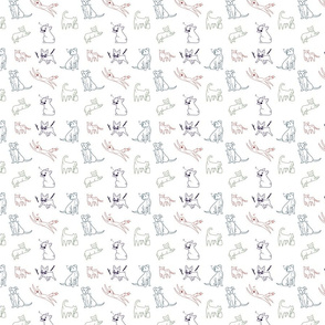 pets pattern rainbow