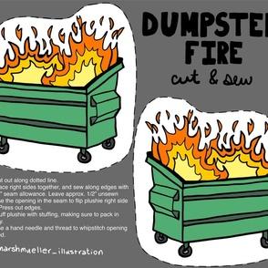 Dumpster Fire Cut + Sew Panel